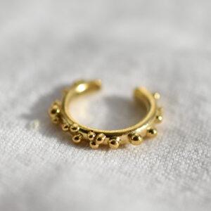 gold vermeil ear cuff