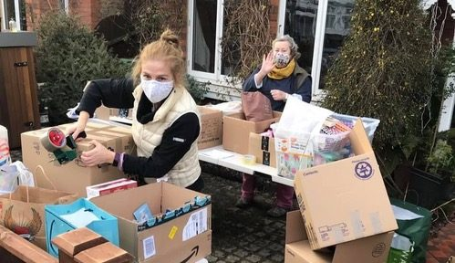RBKares volunteers give wellbeing parcels and support to Kingston Hospital staff