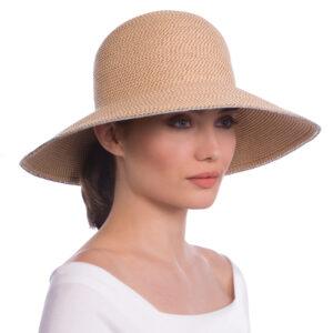 Erik-Javits-Squishee-Hampton-summer-hat-peanut-with-silver-trim
